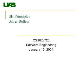 SE Principles Silver Bullets