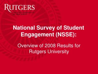 National Survey of Student Engagement (NSSE):