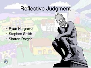 Reflective Judgment