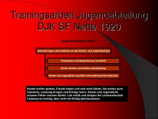 Trainingsarbeit Jugendabteilung DJK SF Nette 1920