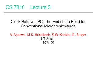 CS 7810 Lecture 3