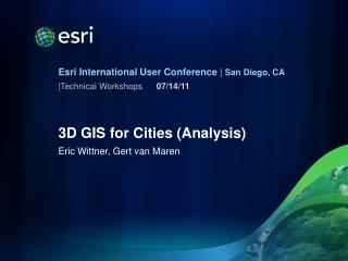 3D GIS for Cities (Analysis)