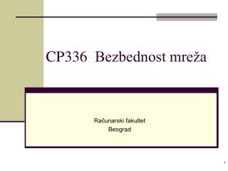 CP 336 Bezbednost mreža