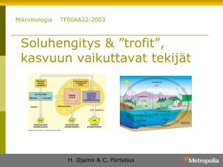 """Soluhengitys & """"trofit"""", kasvuun vaikuttavat tekijät"""