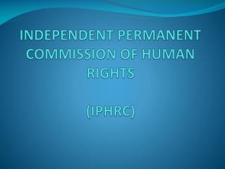 I- References to human rights in the basic documents: