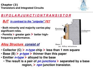Chapter (3) Transistors and Integrated Circuits