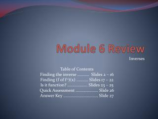 Module 6 Review