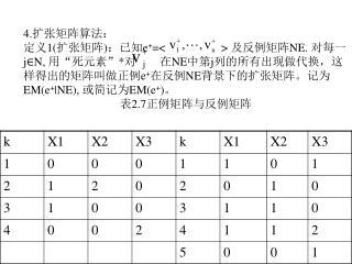 4. 扩张矩阵算法:
