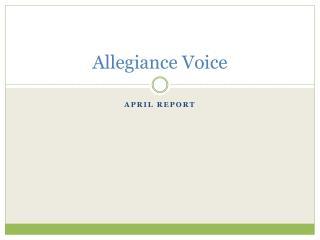 Allegiance Voice