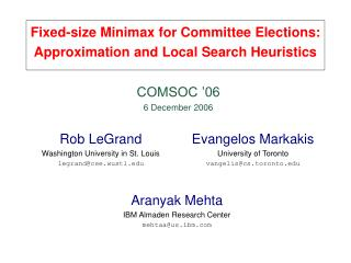 Fixed-size Minimax for Committee Elections: Approximation and Local Search Heuristics