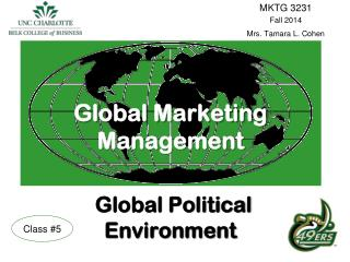 Global Marketing Management Global Political Environment