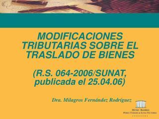 Dra. Milagros Fernández Rodríguez