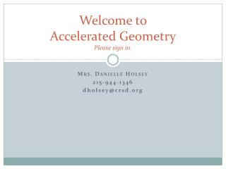 Welcome to Accelerated Geometry Please sign in.