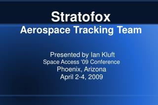 Stratofox Aerospace Tracking Team