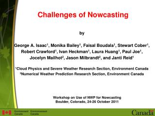 Challenges of Nowcasting