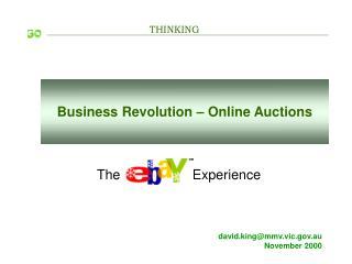 Business Revolution – Online Auctions