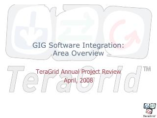 GIG Software Integration: Area Overview