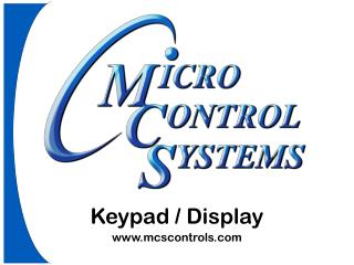 Keypad / Display mcscontrols
