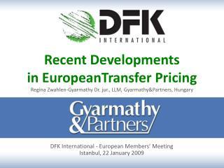 DFK International - European Members ' Meeting Istanbul , 22 January 2009