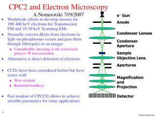 CPC2 and Electron Microscopy A.Nomerotski 7//9/2007