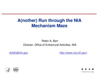 A(nother) Run through the NIA Mechanism Maze