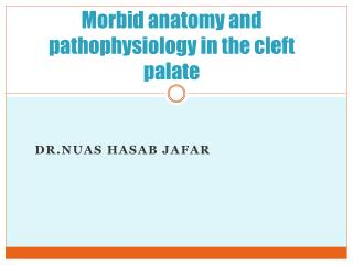 Morbid anatomy and pathophysiology in the cleft palate