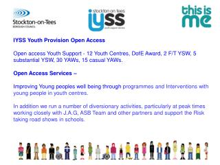 IYSS Youth Provision Open Access