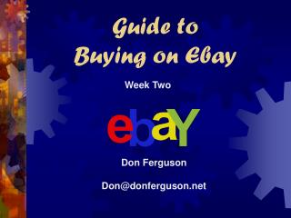 Guide to  Buying on Ebay