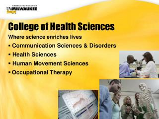 Where science enriches lives Communication Sciences & Disorders  Health Sciences