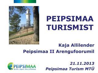 PEIPSIMAA TURISMIST