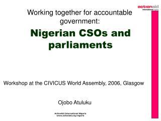 Nigerian CSOs and parliaments
