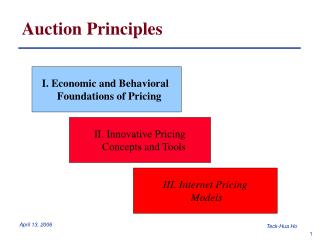 Auction Principles