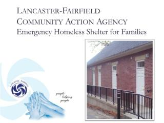 Lancaster-Fairfield Community Action Agency Emergency Homeless Shelter for Families