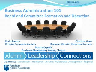Business Administration 101	 Board and Committee Formation and Operation