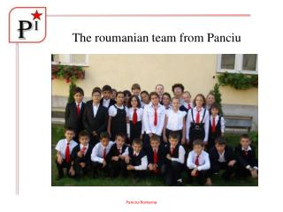 The roumanian team from Panciu