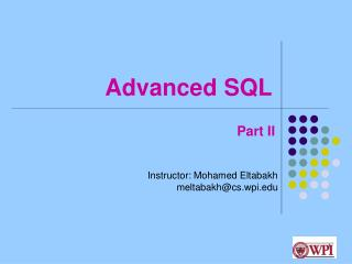 Advanced SQL