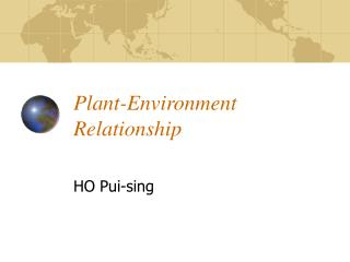 Plant-Environment Relationship