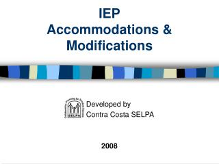 IEP Accommodations & Modifications
