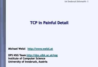 TCP in Painful Detail