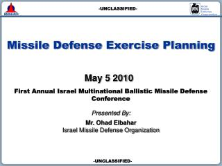 Missile Defense Exercise Planning