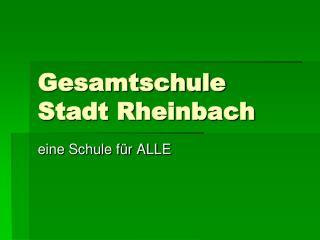 Gesamtschule Stadt Rheinbach