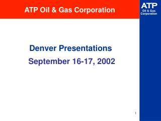 ATP Oil & Gas Corporation