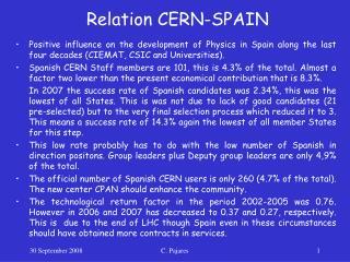 Relation CERN-SPAIN