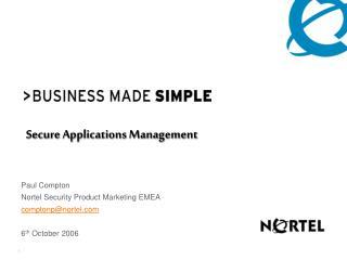 Secure Applications Management