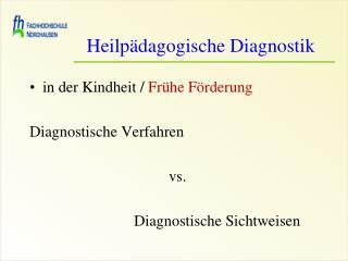 Heilpädagogische Diagnostik