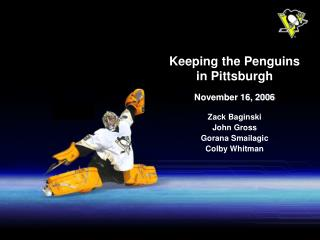 Keeping the Penguins in Pittsburgh