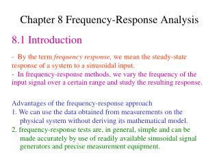 Chapter 8 Frequency-Response Analysis