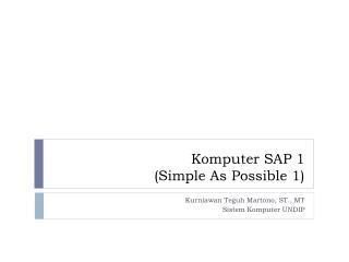 Komputer SAP 1 (Simple As Possible 1)