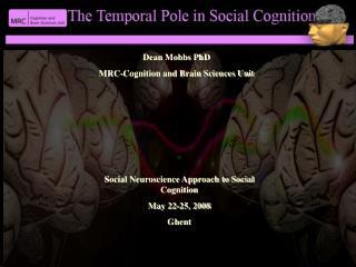 Dean Mobbs PhD MRC-Cognition and Brain Sciences Unit