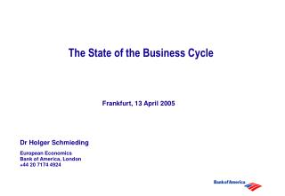 The State of the Business Cycle